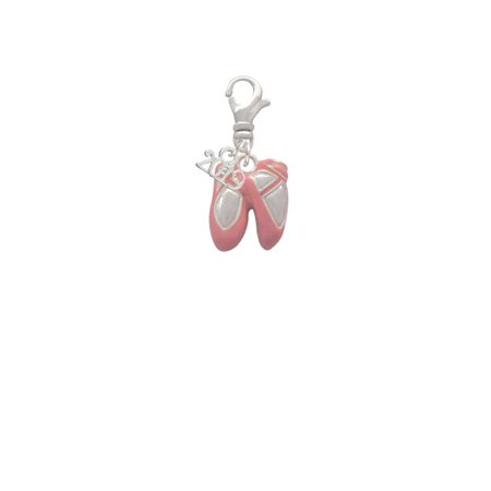 Silvertone Large Pink Ballet Slippers - 2019 Clip on Charm