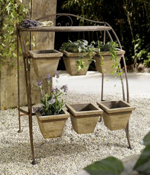 Metal Plant Stand for Outdoor or Greenhouse, Two Tiers by Kozy Life