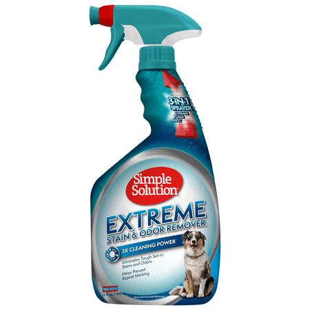 Simple Solution Extreme Pet Stain and Odor Remover | Enzymatic Cleaner with 3X Pro-Bacteria Cleaning Power | 32 - Pet Cleaner