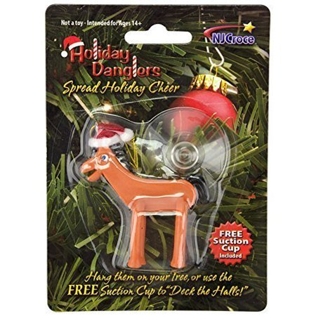 Christmas Holiday Bendable Pokey Ornament, 3 Inches Tall By NJ Croce ()