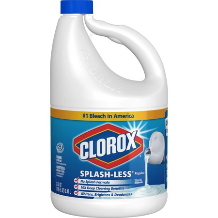 Clorox Splash-Less Liquid Bleach, Regular, 116 Ounce (Percentage Of Sodium Hypochlorite In Clorox Bleach)