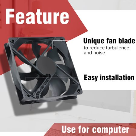 120x120x25mm DC 5V USB CPU Fan Silent Cooling PC Computer Case Fan Powered Quiet ()