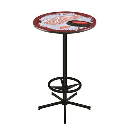 Detroit Red Wings Pub Table - 42 in. Detroit Red Wings Pub Table with 36 in. Top, Black