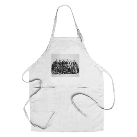 Judge Wickersham And Indian Chiefs Council Photograph  Cotton Polyester Chefs Apron