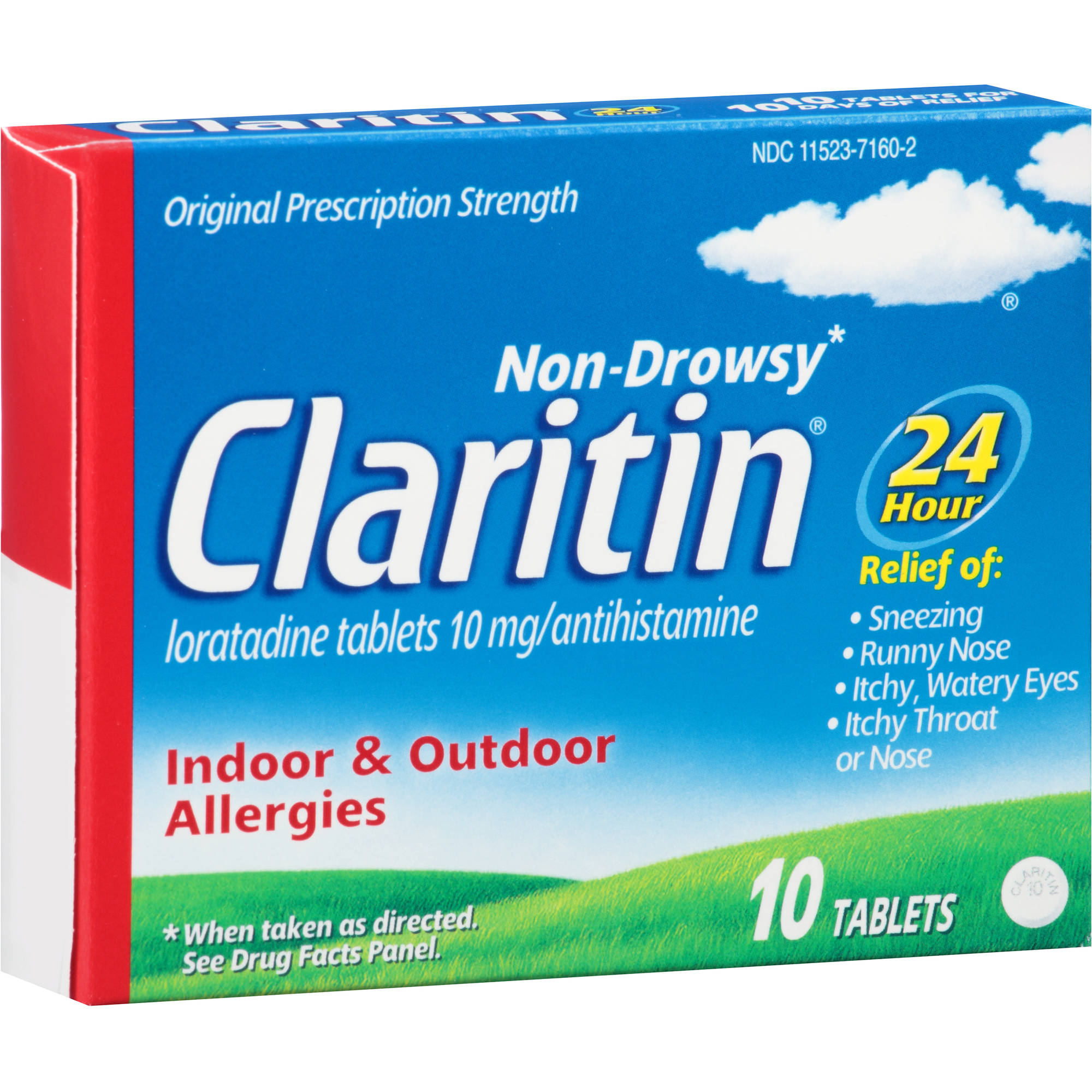 Claritin 24 Hour Non-Drowsy Allergy Relief, 10 count