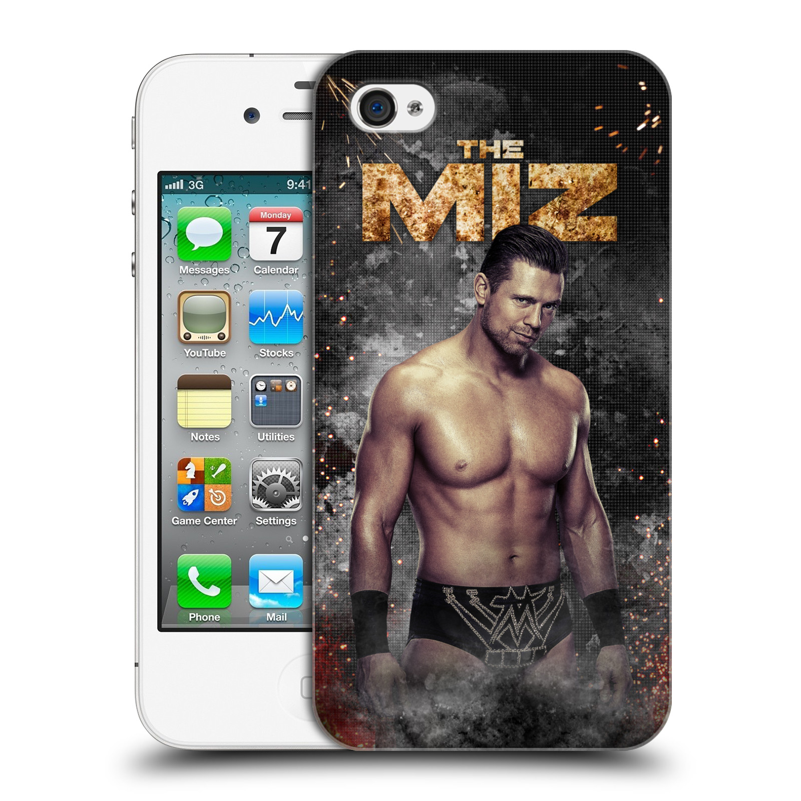 OFFICIAL WWE THE MIZ HARD BACK CASE FOR APPLE IPHONE PHONES