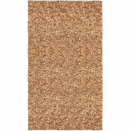 St. Croix Pelle Leather Shag Tan 5' x 8' Rug