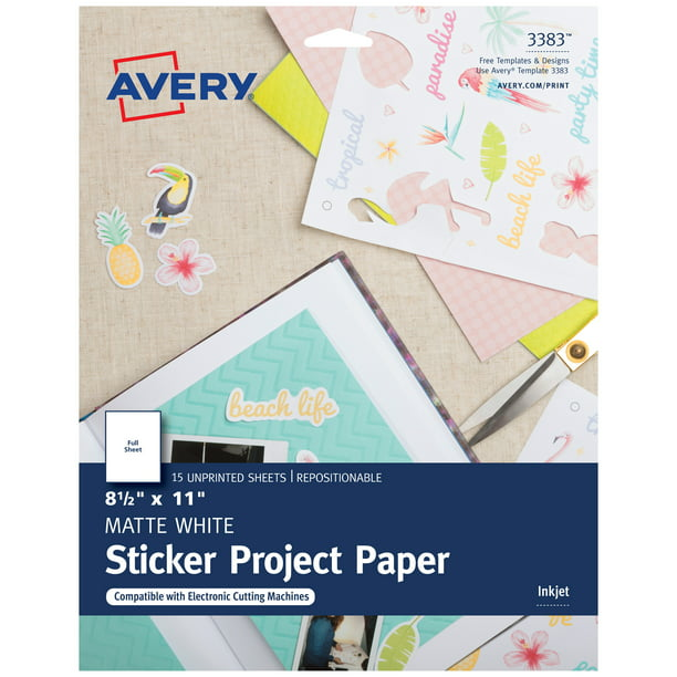 Avery Printable Sticker Paper 8 5 X
