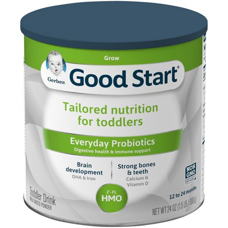 Gerber Good Start Grow Everyday Probiotics Powder Toddler Drink, Stage 3, 24 oz.