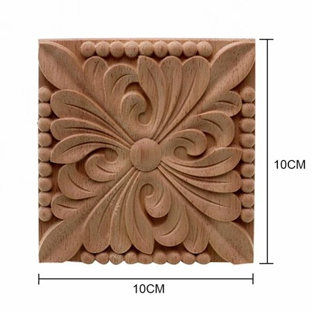 4 Pack Furniture Wood Carving Liques Decor Accessories