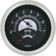 SeaStar Solutions Black Sterling Tachometer/Voltmeter Multi-Gauge