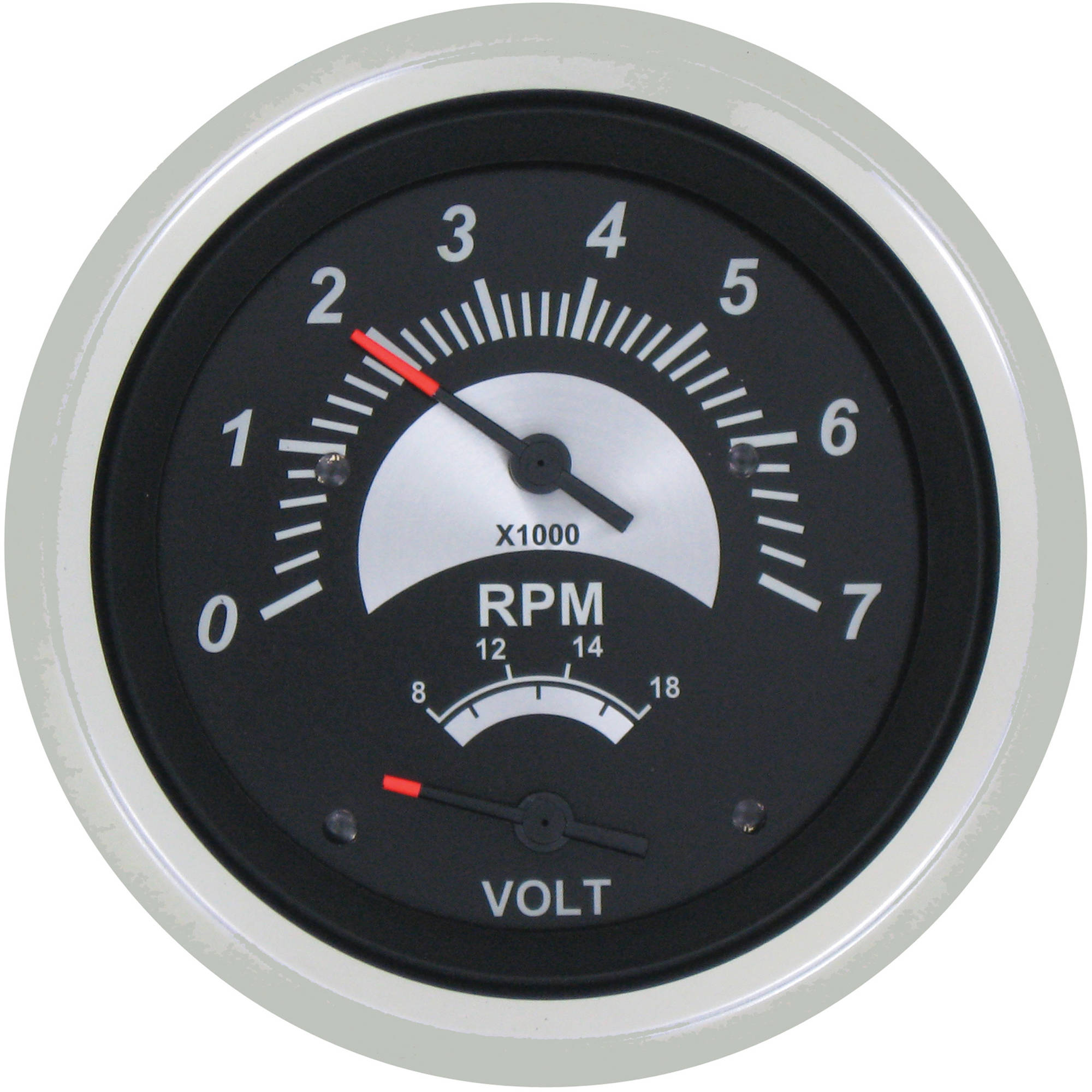 SeaStar Solutions Black Sterling Tachometer/Voltmeter Multi-Gauge