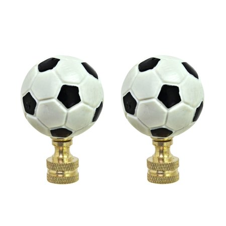 Aspen Balls (Aspen Creative 24022-12, 2 Pack, Plastic Soccer Ball Finial with Solid Brass Finish, 1 3/4