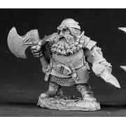 Reaper Miniatures Hagar, Dwarven Hero 03035 Dark Heaven Legends Unpainted Metal