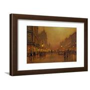 A Street at Night Traditional Street Scene Cityscape Framed Print Wall Art By John Atkinson Grimshaw