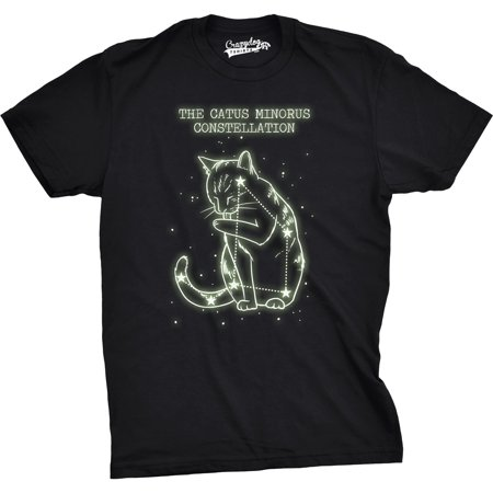 Crazy Dog T-shirts The Catus Minorus Constellation Glow In The Dark T Shirt Funny Cats Tee](Glow In The Dark Skirt)