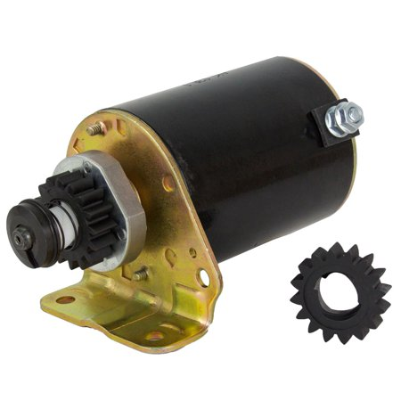 NEW STARTER MOTOR FITS BRIGGS STRATTON COOLED ENGINES 10HP 11HP W/FREE GEAR AM122337