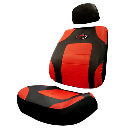 Plasticolor R Racing Red 3-piece Low Back Seat Cover