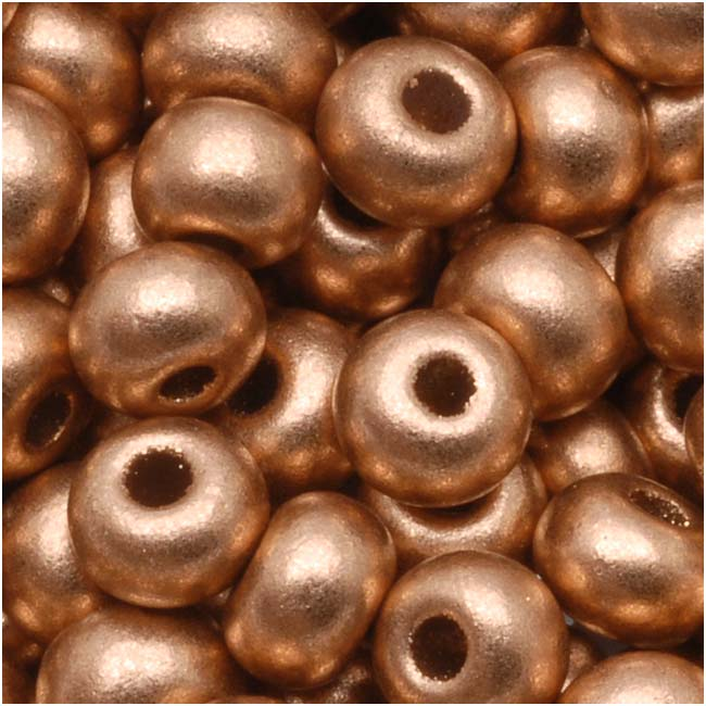 Czech Seed Beads 6/0 Light Copper Supra Metallic (1 Ounce)
