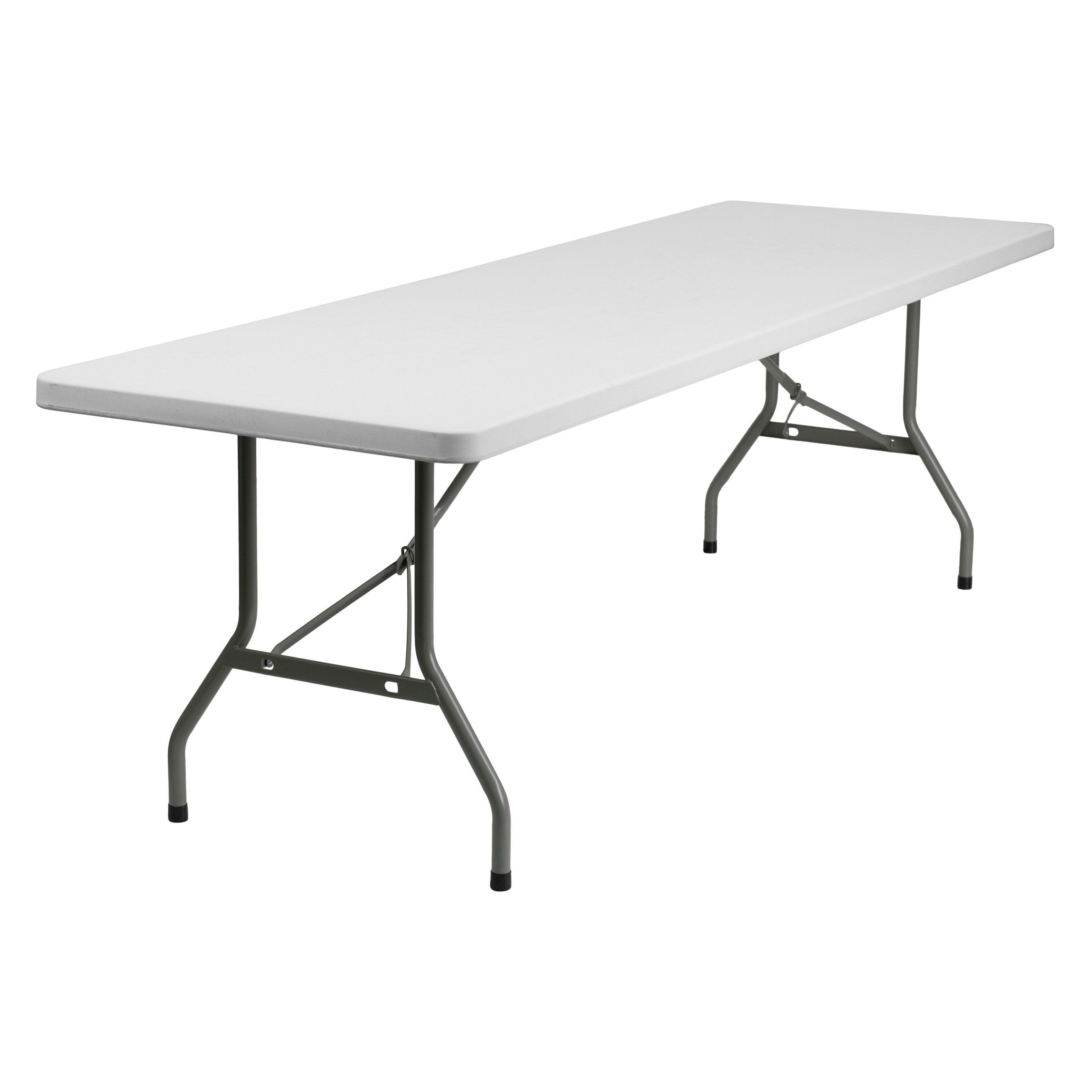 Flash Furniture 30''W x 96''L Granite White Plastic Folding Table by Flash Furniture