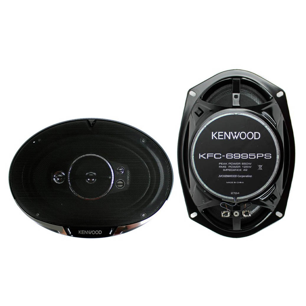 Kenwood KFC-6995PS 6x9 5-Way 650-Watts Speakers, Black