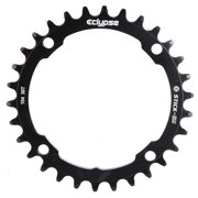 Eclypse, Glide-Pro Stick Em 104, 32T, 9-11sp, BCD: 104mm, 4 Bolt Outer Chainring, Alloy, Black