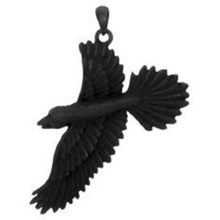Raven Pendant - Collectible Medallion Necklace Accessory Jewelry