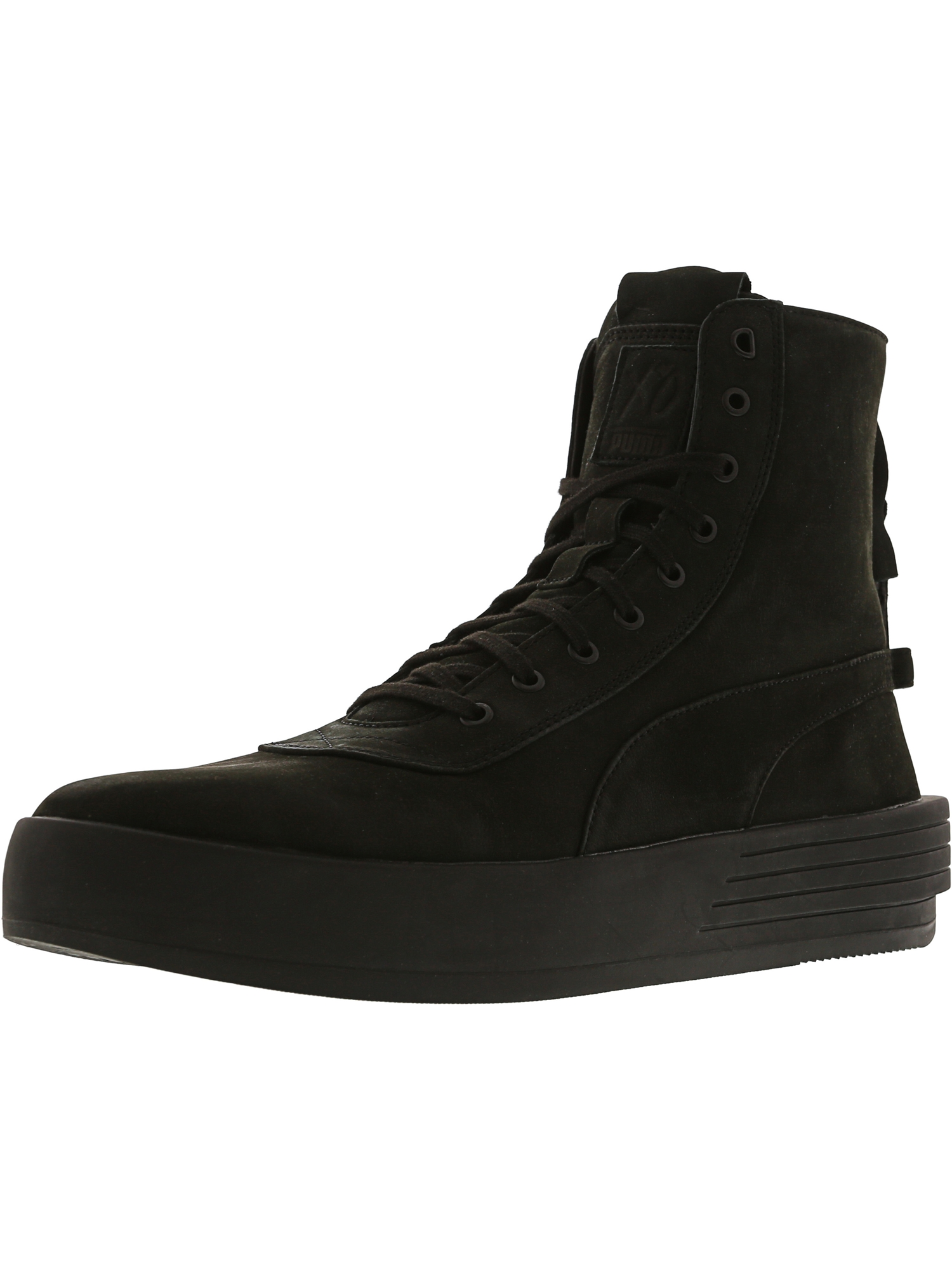 b2ef51f332a Puma Men s Xo Parallel Black   High-Top Leather Fashion Sneaker - 9M ...