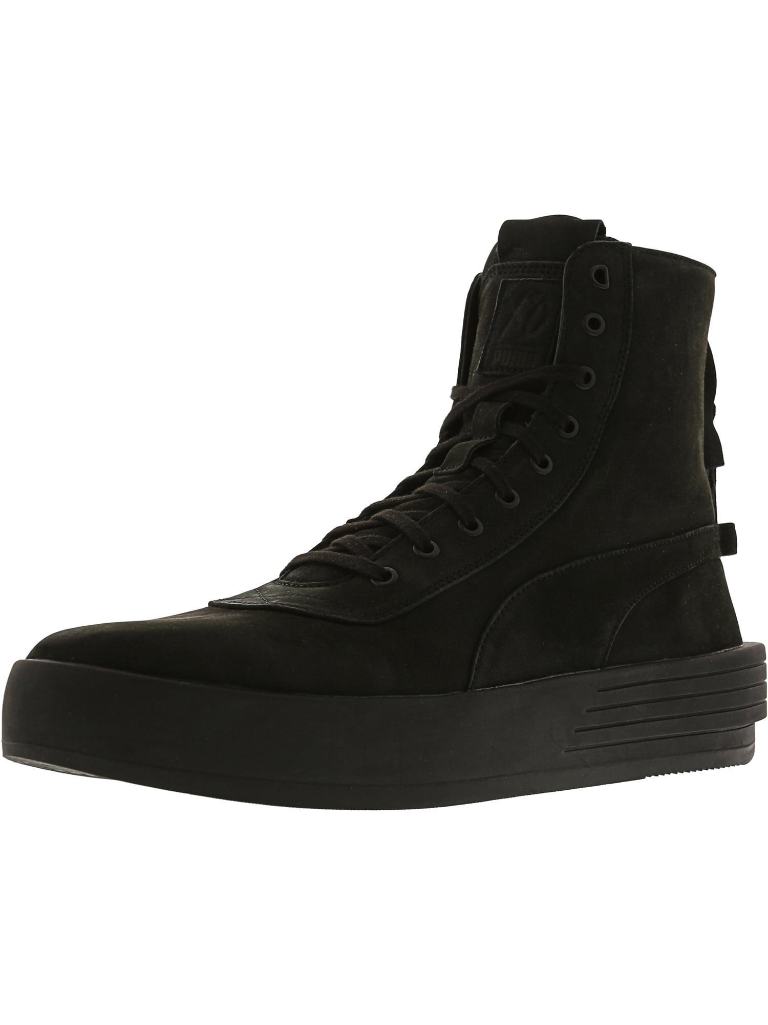 Puma Men's Xo Parallel Black / High-Top Leather Fashion Sneaker - 10M