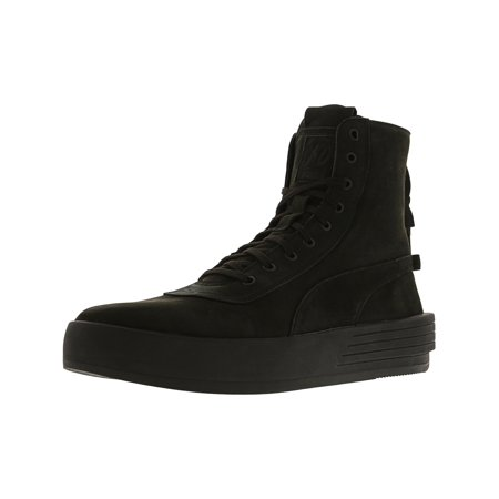 Puma Men's Xo Parallel Black / High-Top Leather Fashion Sneaker - 10M Calfskin Leather Mens Sneakers