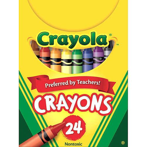 Crayola Classic Color Pack Crayons, Tuck Box, 24 Colors/Box