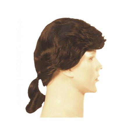 Morris LW86MBN Mens Ponytail Wig - Medium No.4 Brown