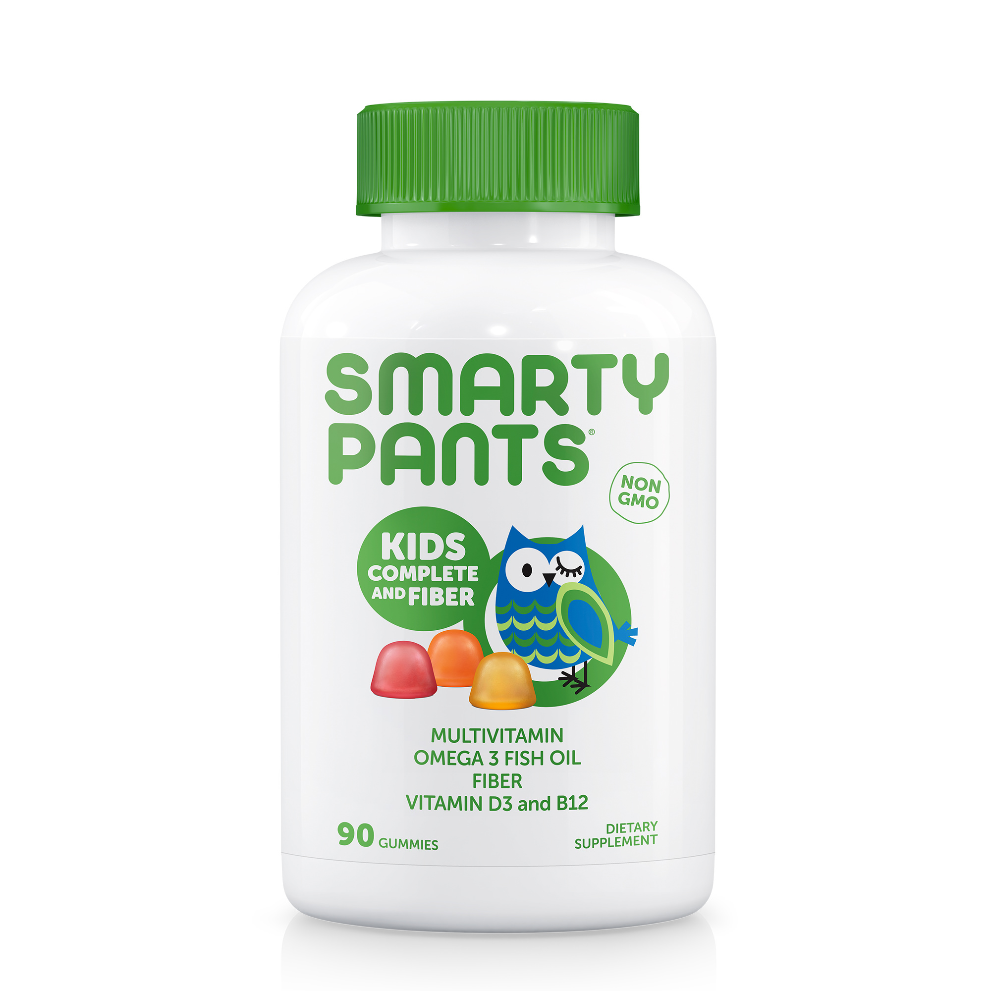 SmartyPants Kids Complete and Fiber Gummy Vitamins: Multivitamin, Gluten Free, Prebiotic Fiber,...