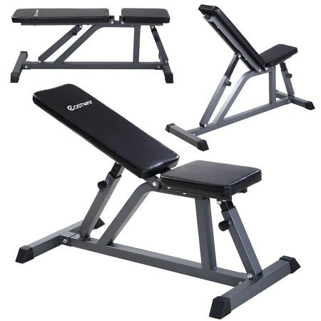 Costway Adjustable Folding Sit Up AB Incline Abs Bench Flat Fly Weight