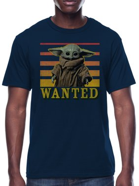 Star Wars The Child Baby Yoda Wanted Men's and Big Men's Graphic T-shirt
