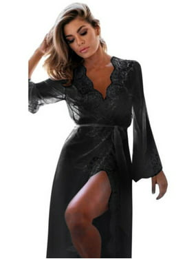 1def5a1fb3 Product Image Womens Lace Long Sleeve Sexy Lingerie Nightwear Sleepwear  Babydoll Robes Dress