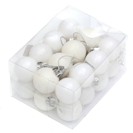 ENJOY 24pcs Christmas Tree Baubles Balls Decor Ornament Xmas Wedding Party Decorations ()