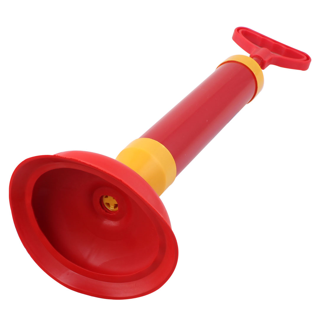 Bathroom Red Yellow Suction Cup Drain Pump Clean Handle Toilet ...