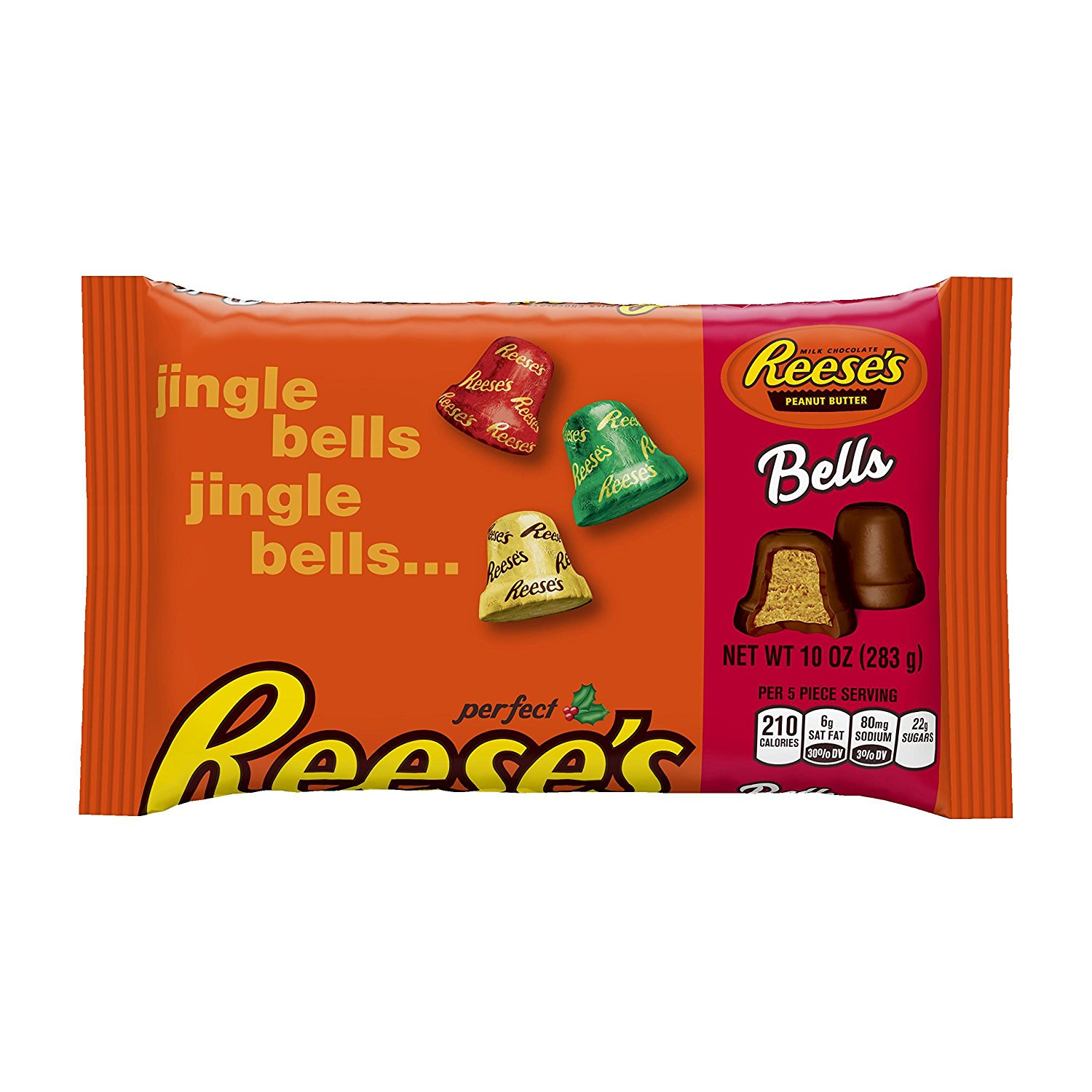 Reese's Holiday Peanut Butter Bells, 10-Ounce Bags (Pack of 4)
