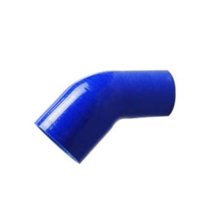 "2.5"" to 3"" Blue 45 Degree Silicone hose Coupler 4 layer polyester"