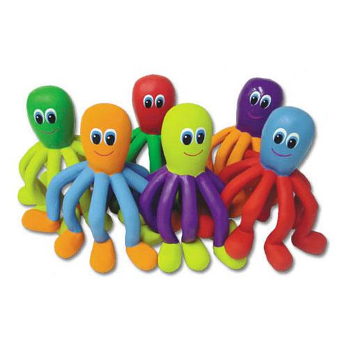 Color My Class Rubber Octopi - Set of 6