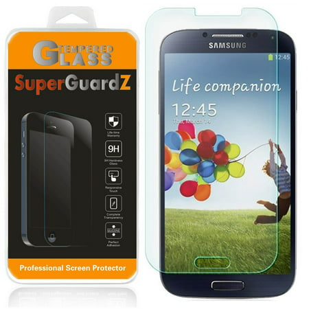 [3-Pack] For Samsung Galaxy S4 - SuperGuardZ Tempered Glass Screen Protector, 9H, Anti-Scratch, Anti-Bubble,