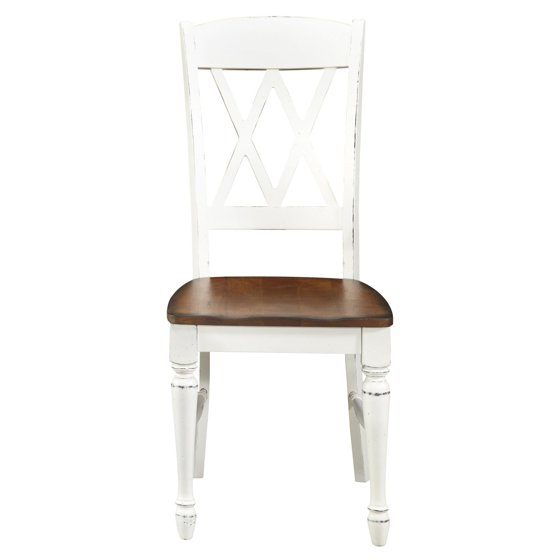 Home Styles Monarch Double X Back Dining Chairs Set Of 2 White Amp