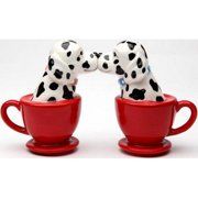 Dalmatian Dogs Teacup 3 1/2'' tall Magnetic Salt and Pepper Shakers