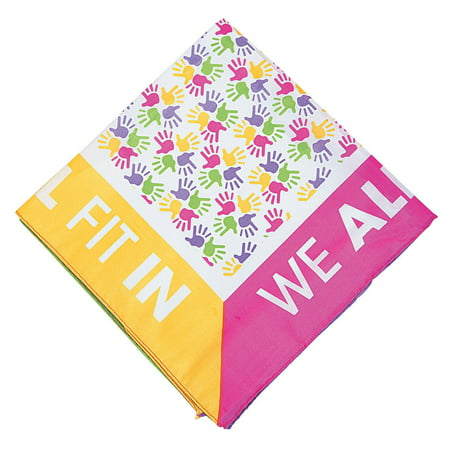 Fun Express - Be You Bandanas Pink 1 pc - Apparel Accessories - Hats - Bandannas - 1 Piece