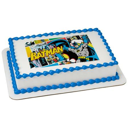 Batman POP 2 Round Cupcake Sheet Image Cake Topper Edible Birthday Party