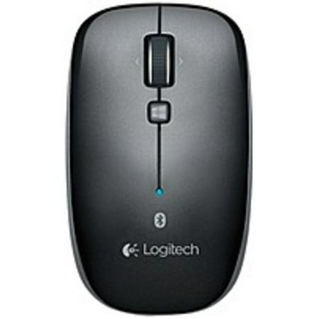 Refurbished Logitech Bluetooth Mouse M557 - Optical - Wireless - Bluetooth - Dark Gray - 1000 dpi - Tablet, Computer, Notebook - Tilt Wheel -