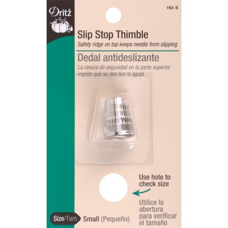 Dritz Slip-Stop Thimble-Small Dritz Quilting Leather Thimble