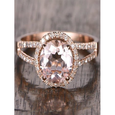 Limited Time Sale Antique Halo 1.50 carat Morganite and Diamond Halo Engagement Ring in 10k Rose Gold for Women 10k Antique Ring