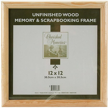 Darice Unfinished Wood Memory Frame, 12 x 12 Inches](Unfinished Wood Frames)